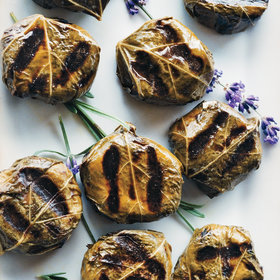 Food & Wine: Goat-Cheese-Stuffed Grape Leaves