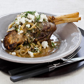 Food & Wine: Slow Cooker Lamb Shanks with Lemon, Dill and Feta