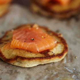 Food & Wine: Buckwheat-Cheddar Blini with Smoked Salmon