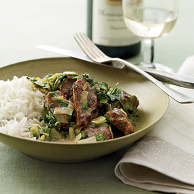 Food & Wine: Veal Stew with Spring Greens