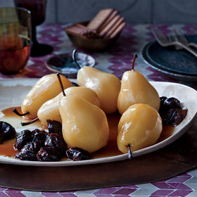 mkgalleryamp; Wine: Poached Pears with Prunes