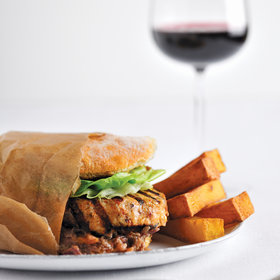 Food & Wine: Chicken Burgers with Spicy Peanut Sauce