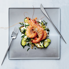 Food & Wine: Zucchini Carpaccio with Salt-Broiled Shrimp
