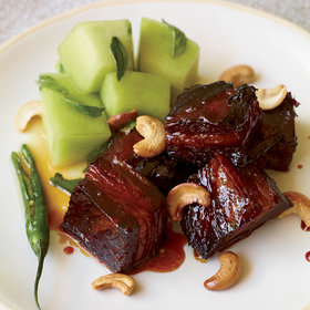 Food & Wine: Caramel-Lacquered Pork Belly with Quick-Pickled Honeydew