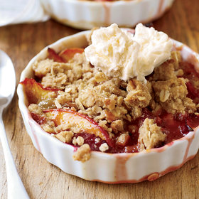 Food & Wine: Nectarine-and-Plum Crisp with Oatmeal Streusel