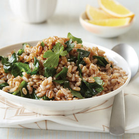 Food & Wine: Toasted Farro with Greens and Tahini