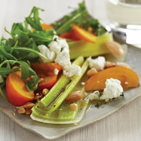 Food & Wine: Leek Salad with Persimmons and Almonds