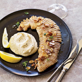 Food & Wine: Pan-Fried Skate with Brown Butter and Parsnip Puree