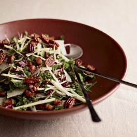 Food & Wine: Kale & Apple Salad with Pancetta and Candied Pecans