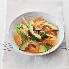 Food & Wine: Pink-Grapefruit-and-Avocado Salad