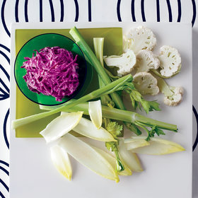 Food & Wine: Creamy Beet Dip with White Crudités