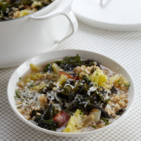 Food & Wine: Cabbage-and-Kale Soup with Farro