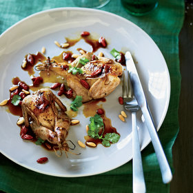 Food & Wine: Grilled Quail with Goji Berries and Pine Nuts