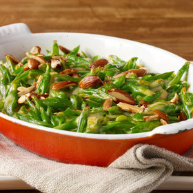 Food & Wine: Green Bean Casserole with Goat Cheese, Almonds and Smoked Paprika