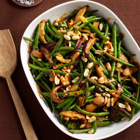 Food & Wine: Green Bean Casserole with Red Curry and Peanuts