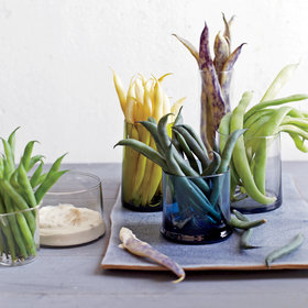 Food & Wine: Mixed-Bean Crudités with Olive-Anchovy Aioli