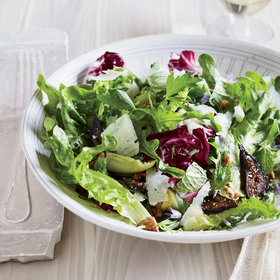 Food & Wine: Mixed-Greens-and-Herb Salad with Figs and Walnuts