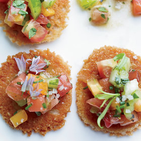 Food & Wine: Parmesan Tuiles with Heirloom Tomato Salad