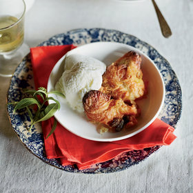 Food & Wine: Pumpkin Pie-Croissant Pudding