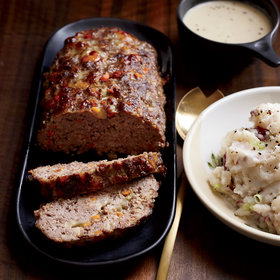 mkgalleryamp; Wine: Meat Loaf with Creamy Onion Gravy