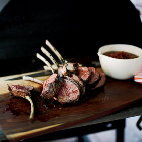 Food & Wine: Slow-Grilled Rack of Lamb with Mustard and Herbs