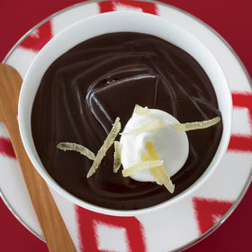 Food & Wine: Dark-Chocolate Pudding with Candied Ginger