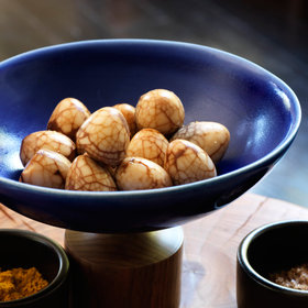 Food & Wine: Tea-Marbled Quail Eggs with Dipping Salts