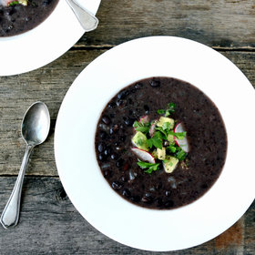 Food & Wine: Black-Bean Soup with Avocado Salsa