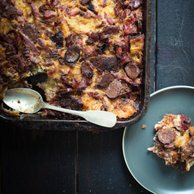 Food & Wine: Choucroute Bread Pudding