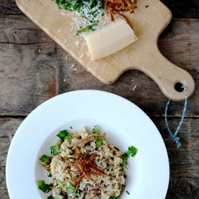 Food & Wine: Dried-Porcini-Mushroom Risotto with Goat Cheese
