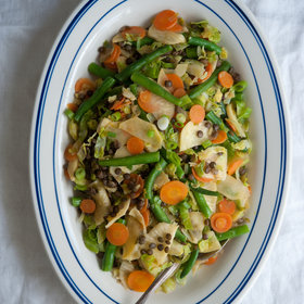 Food & Wine: Five-Vegetable Stir-Fry with Lentils