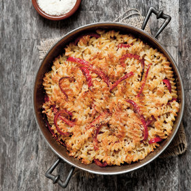 Food & Wine: Fusilli with Three Cheeses and Red Bell Pepper