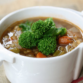 Food & Wine: Lentil Soup with Broccoli Rabe
