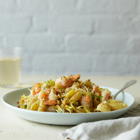 Food & Wine: Pasta Shells with Shrimp and Garlicky Bread Crumbs