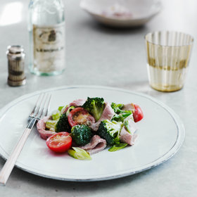 Food & Wine: Roast-Beef and Broccoli Salad with Creamy Horseradish Dressing