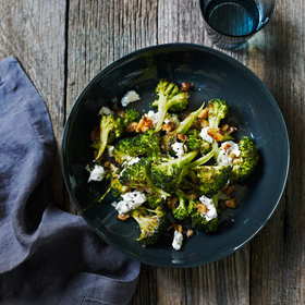 Food & Wine: Roasted Broccoli with Walnuts and Goat Cheese