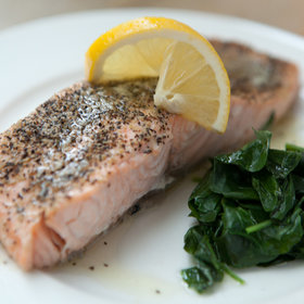 Food & Wine: Steamed Salmon with Watercress and Lemon Butter