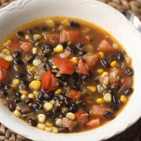 Food & Wine: Summer Black Bean Soup with Corn and Tomatoes