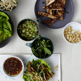 Food & Wine: Thai-Style Chicken In Lettuce Leaves