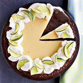 Food & Wine: Key Lime Pie with Chocolate-Almond Crust