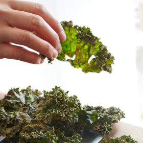 Food & Wine: Kale Chips with Almond Butter and Miso