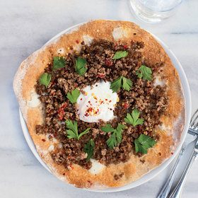 Food & Wine: Turkish Ground-Lamb Pizzas