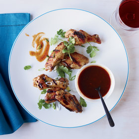 Food & Wine: Chicken Wings with Molasses Barbecue Sauce