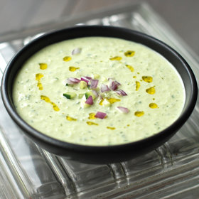 mkgalleryamp; Wine: Cold Cucumber Soup with Yogurt and Dill