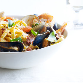 Food & Wine: Fettuccine with Spicy Shellfish