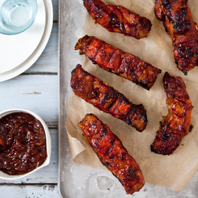 Food & Wine: Country-Style Ribs with Apple-Bourbon Barbecue Sauce