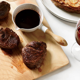 Food & Wine: Bison Steaks with Fig-Balsamic Sauce