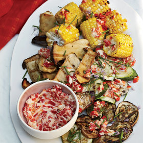 Food & Wine: Grilled Vegetables with Roasted-Chile Butter
