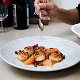 Food & Wine: Scallops with Grapefruit and Bacon