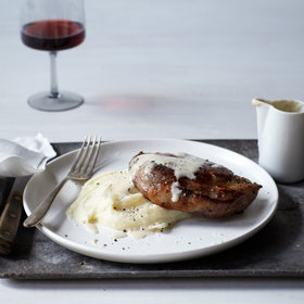Food & Wine: Milk-Braised Pork Chops with Mashed Potatoes and Gravy